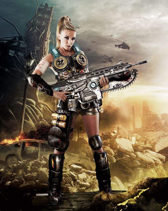 Anna Simon Gears Of War 3 1, Hay una lesbiana en mi sopa
