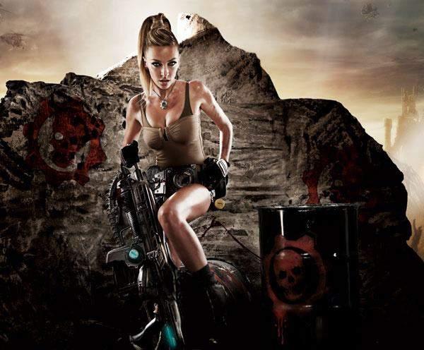 Anna Simon Gears Of War 3 4, Hay una lesbiana en mi sopa
