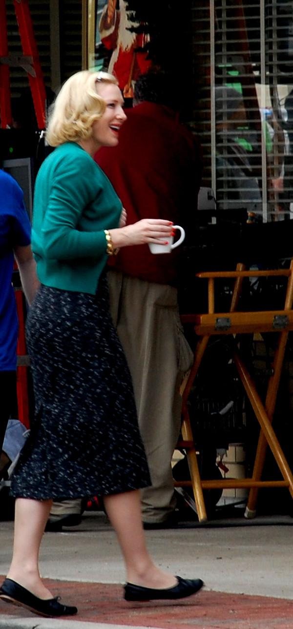 Rodaje De Carol Cate Blanchett Sarah Paulson Rooney Mara 25, Hay una lesbiana en mi sopa