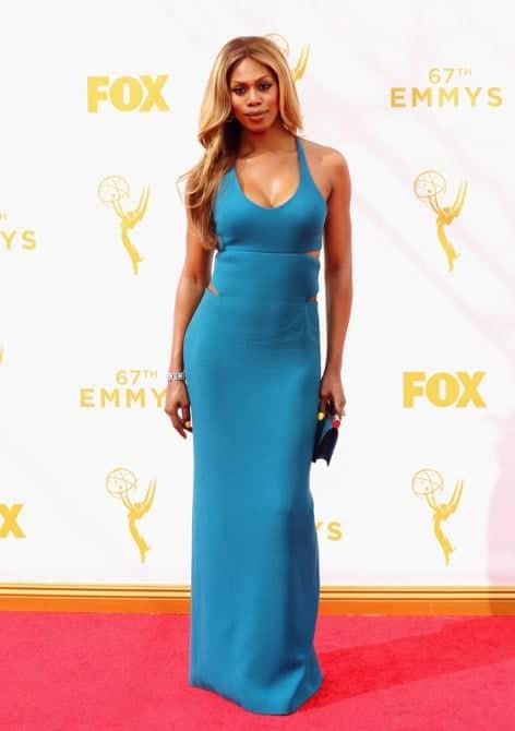 laverne cox - La increíble alfombra roja de los Emmys 2015
