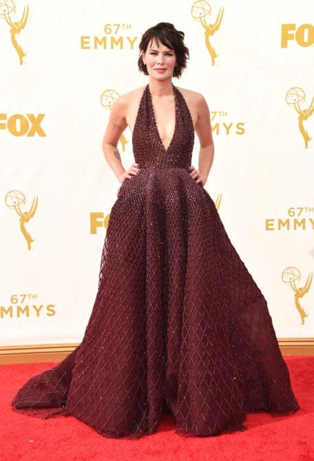 lena headey - La increíble alfombra roja de los Emmys 2015