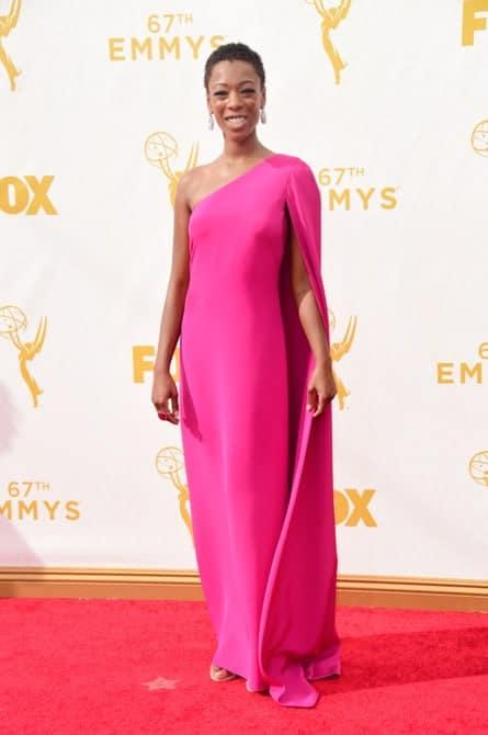 samira wiley - La increíble alfombra roja de los Emmys 2015