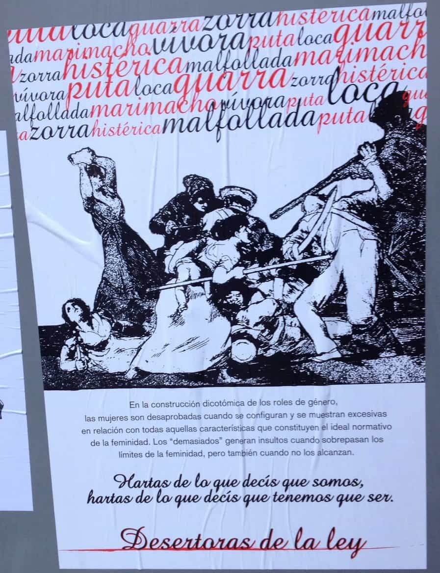Pancarta Callejera Feminista1, Hay una lesbiana en mi sopa