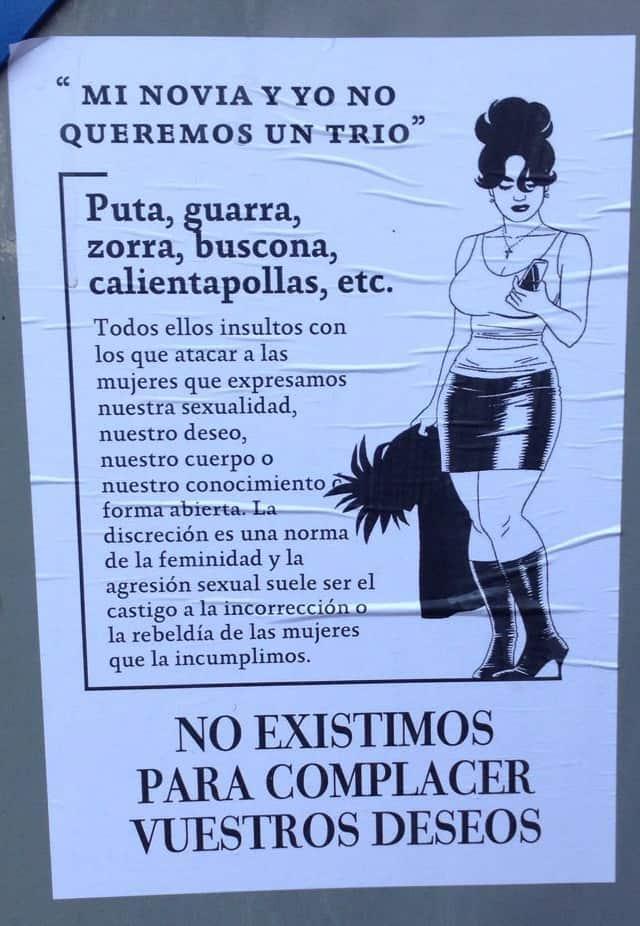 Pancarta Callejera Feminista2, Hay una lesbiana en mi sopa