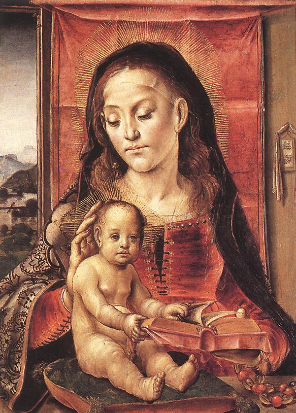 La Virgen con el Niño-Pedro Berruguete