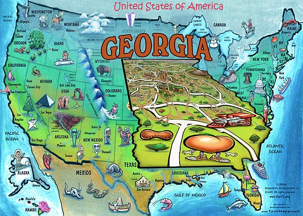 georgia-usa-cartoon-map-kevin-middleton