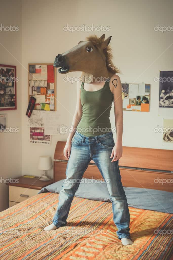 mask-horse-lesbian-woman