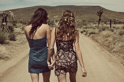 lesbian holding hands