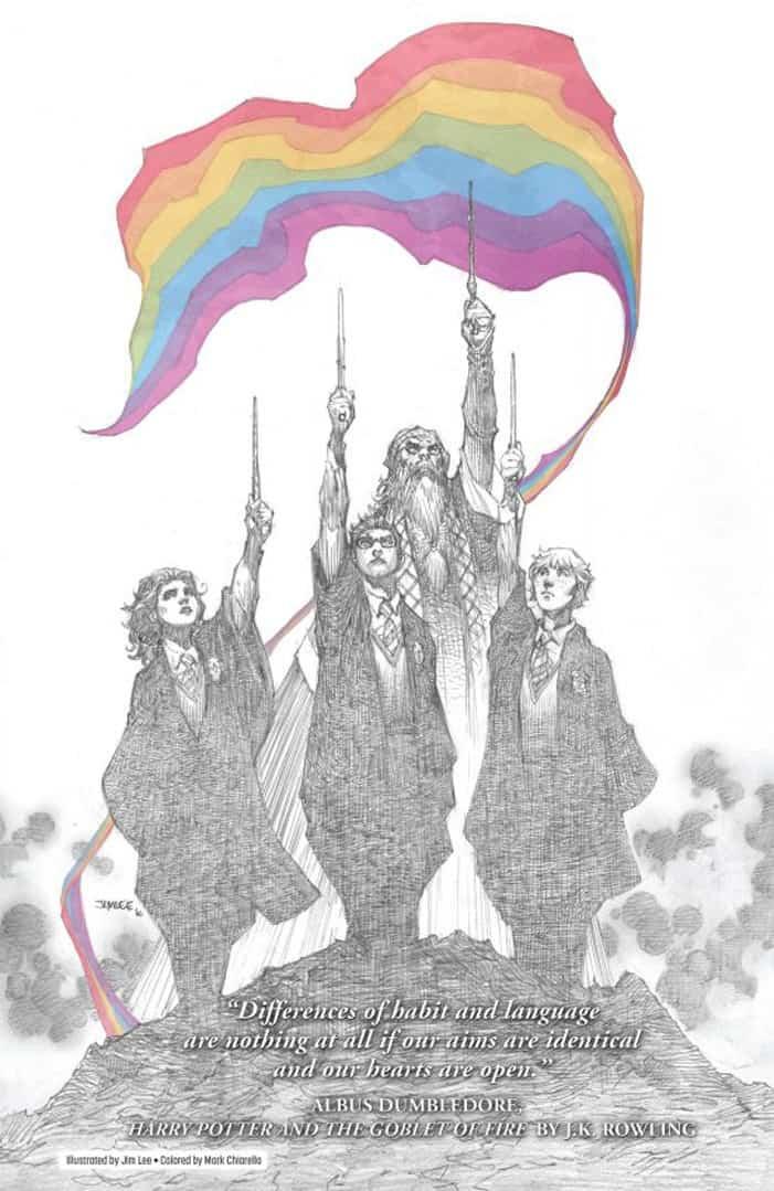 Lgbt Rainbow Pride Flag Jim Lee Love Is Love Harry Potter Jk Rowling, Hay una lesbiana en mi sopa