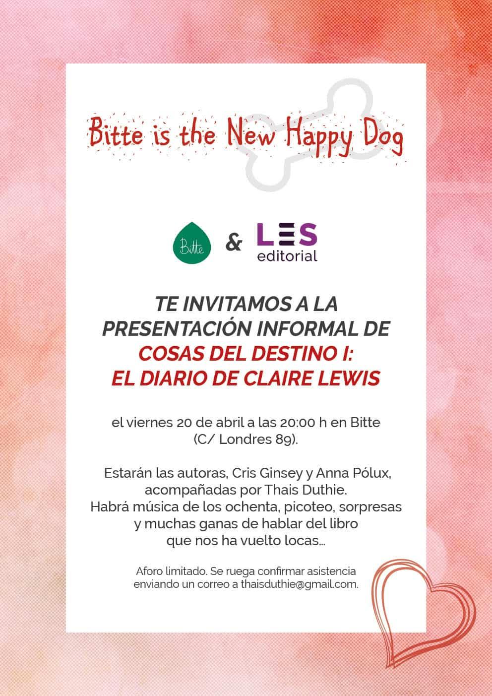 cosas del destino - Presentación de 'Cosas del destino I: El diario de Claire Lewis' en Barcelona