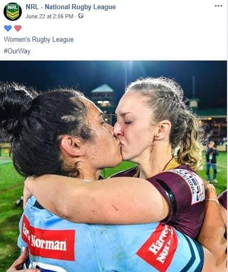 nrl rugby - Karina Brown yVanessa Foliaki: Pareja fuera del campo, rivales en él