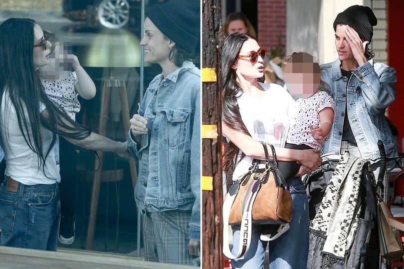 demi moore novia - Demi Moore, su nueva novia y la hija que ambas están criando